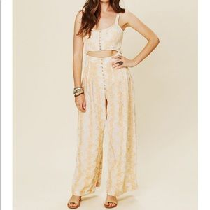 Preloved Free People New Romantics Sliced Jumpsuit